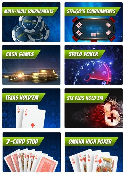 William Hill Poker Offerings